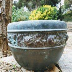 Antigüedades: PRECIOSISIMA JARDINERA MODERNISTA FLORAL ANTIQUE UNIQUE. Lote 169390381