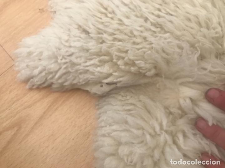 Antigüedades: alfombra de lana de oveja pura,pelo largo y rizado con la piel por la parte posterior,suelo o pared - Foto 7 - 169394232