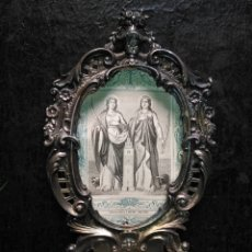 Antigüedades: GRAN BENDITERA PLATA 116 G. DE LEY ORFEBRERIA SELLO PLATERO Y CARTON SAN ANDRES MALAGA. Lote 169397596