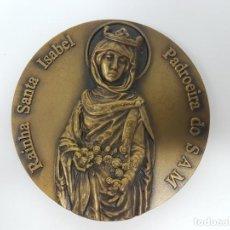 Antigüedades: MEDALLA RELIGIOSA MILITAR RAINHA SANTA ISABEL, ( ESCOLA PRÁTICA ). Lote 169417052