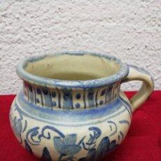 Antigüedades: JARRÓN DE UNA ASA. CERÁMICA DE TERUEL. PUNTER. ALTURA 10CM.. Lote 169429250