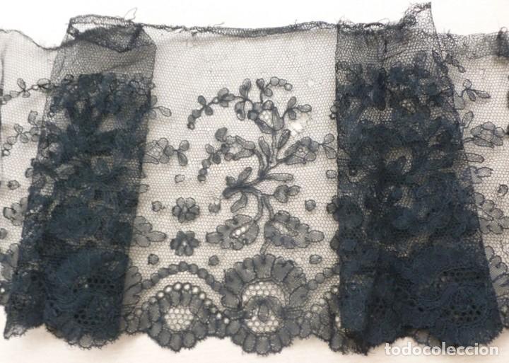 Antigüedades: ANTIGUO ENCAJE CHANTILLY S.XIX - Foto 3 - 169432036
