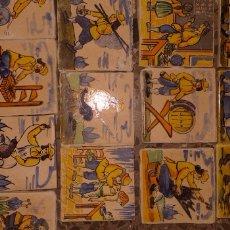 Antigüedades: AZULEJOS PEQUEÑOS PARA ENMARCAR, DE DIVERSOS OFICIOS. EL PRECIO ES POR UNIDAD.. Lote 169438429