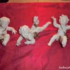 Antigüedades: TRIO DE QUERUBINES DE ALGORA ,( DEDOS DAÑADOS). Lote 169438572