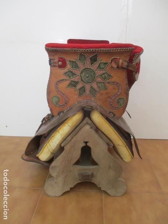 Antigüedades: Preciosa Silla de Montar - de Señora, Novia - S. XVIII - Perfecta - Pieza de colección, Museo - Foto 5 - 169445740