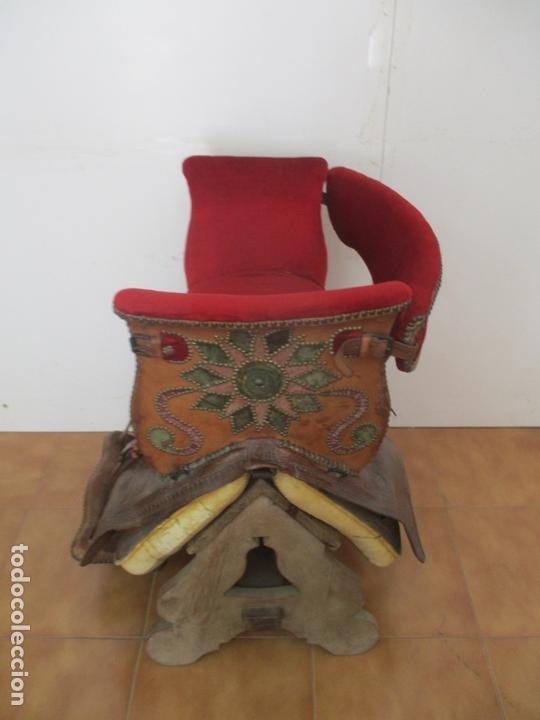 Antigüedades: Preciosa Silla de Montar - de Señora, Novia - S. XVIII - Perfecta - Pieza de colección, Museo - Foto 6 - 169445740