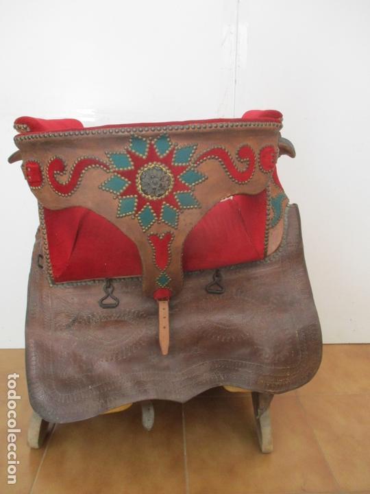Antigüedades: Preciosa Silla de Montar - de Señora, Novia - S. XVIII - Perfecta - Pieza de colección, Museo - Foto 8 - 169445740