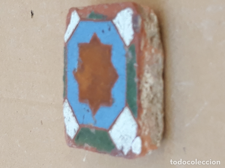 Antigüedades: AZULEJO ANTIGUO DE TOLEDO / SEVILLA- OLAMBRILLA - ARISTA - ARABE / MUDEJAR - SIGLO XV-XVI. - Foto 2 - 169451604
