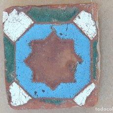 Antigüedades: AZULEJO ANTIGUO DE TOLEDO / SEVILLA- OLAMBRILLA - ARISTA - ARABE / MUDEJAR - SIGLO XV-XVI.. Lote 169451604
