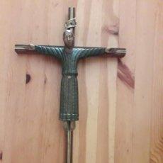 Antigüedades: JESUS CRISTO JESUCRISTO EN CRUZ DE MADERA. Lote 169451488