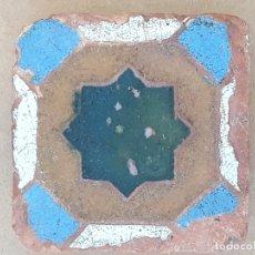 Antigüedades: AZULEJO ANTIGUO DE TOLEDO / SEVILLA - HOLAMBRILLA - ARISTA - ARABE / MUDEJAR - SIGLO XV-XVI.. Lote 169453788