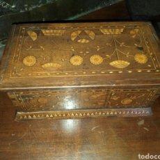 Antigüedades: CAJA DE NOGAL. Lote 169458998