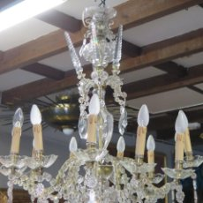 Antigüedades: GRAN LAMPARA DE CRISTAL. AÑOS 40. Lote 169459012