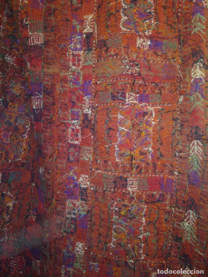 Antigüedades: ANTIGUA ALFOMBRA DE LANA KILIM O SIMILAR TEJIDA A MANO - Foto 3 - 169472188