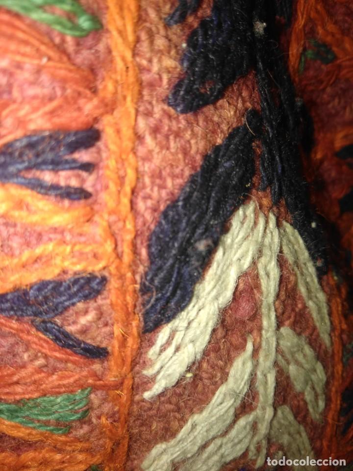 Antigüedades: ANTIGUA ALFOMBRA DE LANA KILIM O SIMILAR TEJIDA A MANO - Foto 6 - 169472188