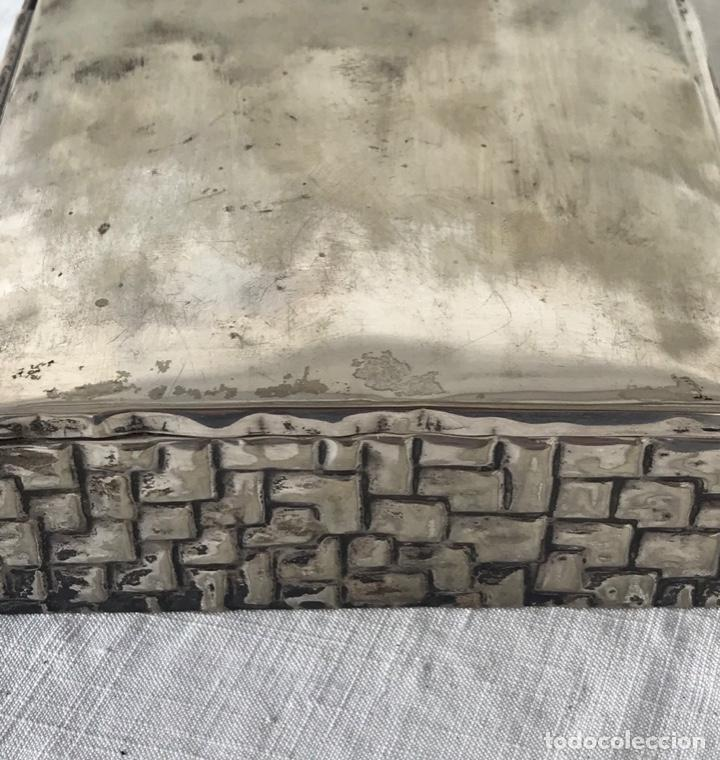 Antigüedades: BONITA CAJA JOYERO BAÑADO EN PLATA - MEDIADOS DEL SIGLO XX. - Foto 2 - 169523432