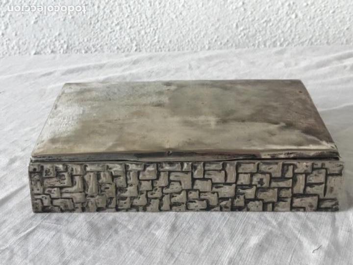 BONITA CAJA JOYERO BAÑADO EN PLATA - MEDIADOS DEL SIGLO XX. (Antigüedades - Platería - Bañado en Plata Antiguo)