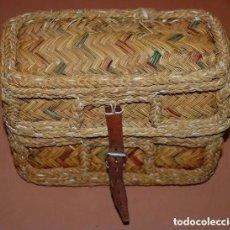 Antigüedades: ZURRON/CAPAZO ARTESANAL DE ESPARTO/04. Lote 169528580