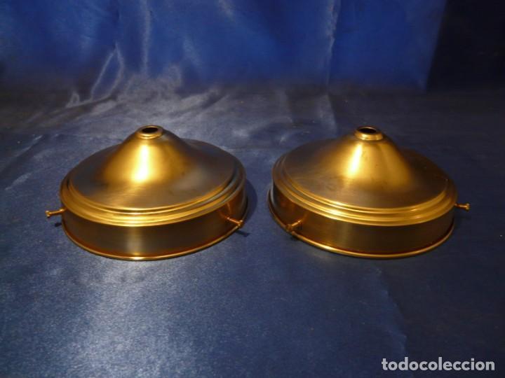 PORTATULIPAS / PORTAPIÑAS DE LATÓN PARA TULIPA O LAMPARA 121 MM (2 UNIDADES) (Antigüedades - Iluminación - Lámparas Antiguas)