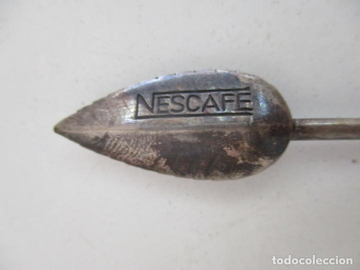 Antigüedades: Cuchara, Cucharilla Marca Nescafe - Decorada con Grano de Café - Baño de Plato - Foto 4 - 169545552