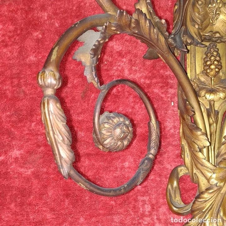 Antigüedades: PAREJA DE APLIQUES EN BRONCE DORADO. ESTILO LUIS XVI. FRANCIA. PRIMERA MITAD SIGLO XIX - Foto 5 - 169553408