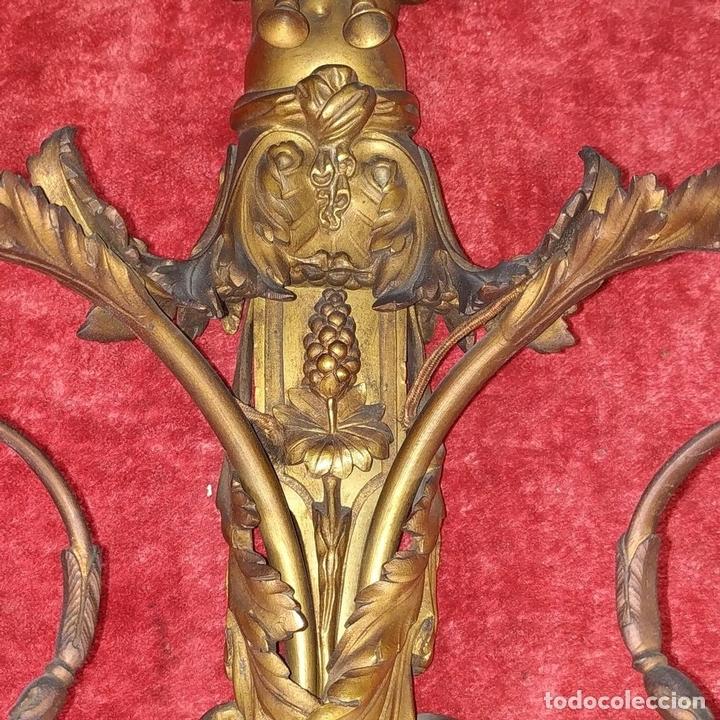 Antigüedades: PAREJA DE APLIQUES EN BRONCE DORADO. ESTILO LUIS XVI. FRANCIA. PRIMERA MITAD SIGLO XIX - Foto 11 - 169553408