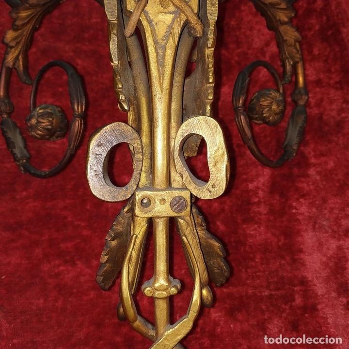 Antigüedades: PAREJA DE APLIQUES EN BRONCE DORADO. ESTILO LUIS XVI. FRANCIA. PRIMERA MITAD SIGLO XIX - Foto 15 - 169553408