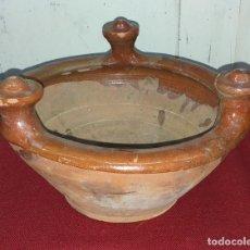 Antigüedades: RECIPIENTE DE TERRACOTA. Lote 169578516