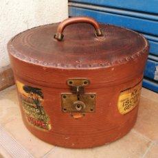 Antigüedades: CAJA PARA GUARDAR SOMBREROS SOMBRERERA. Lote 169580922