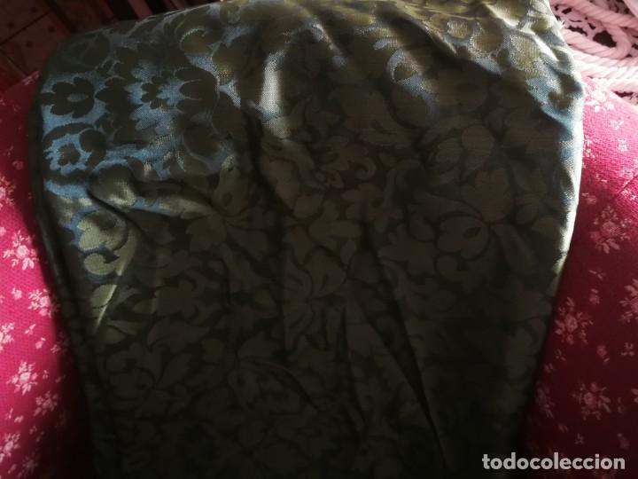 Antigüedades: PIEZA EN DAMASCO COLOR VERDE - Foto 2 - 169582884