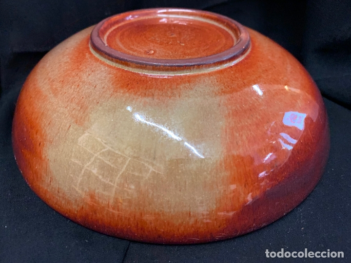 Antigüedades: Precioso bol en terracota , bonita pátina cobriza. mide 20cms de diametro x5,5 alto - Foto 3 - 169583776