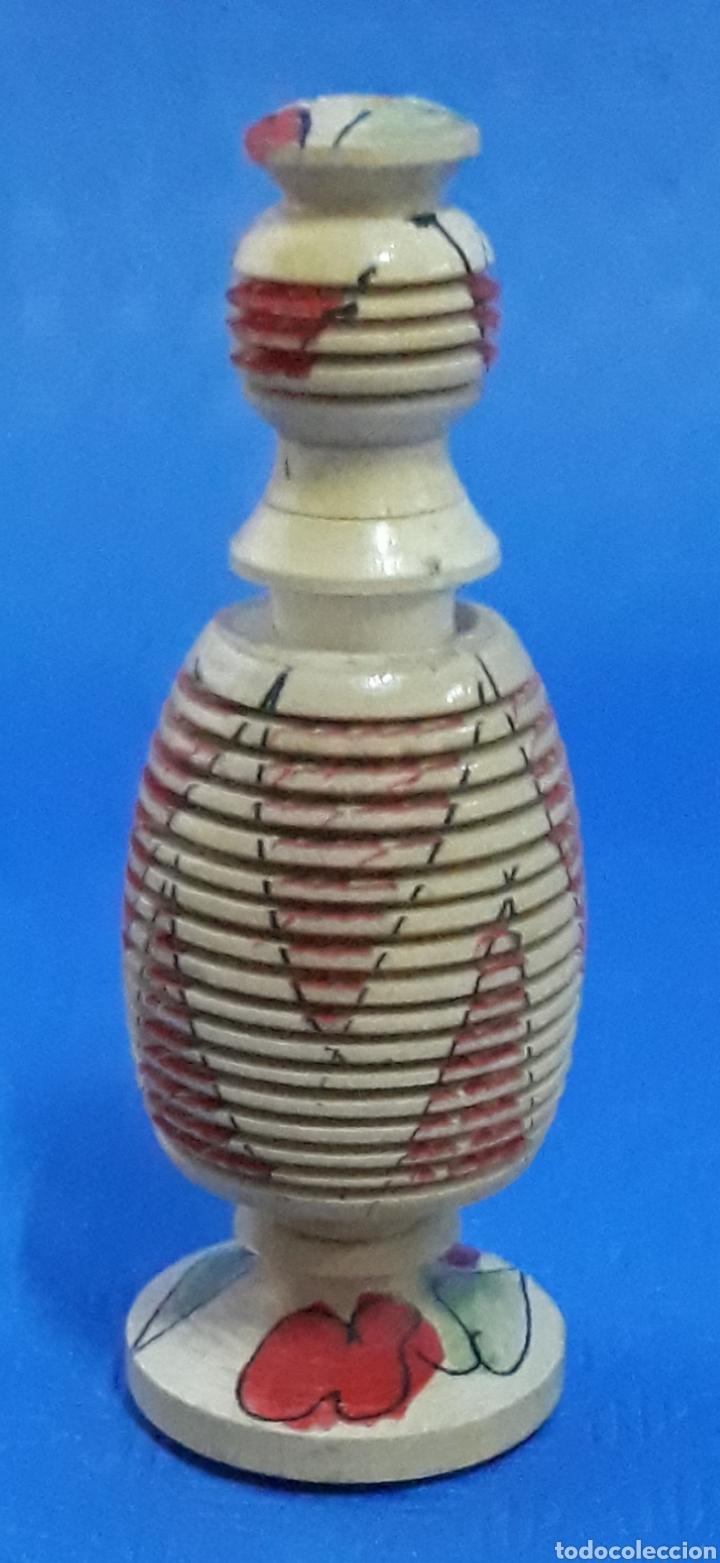 Antigüedades: Tarro de madera torneada muy raro - Foto 2 - 169584118