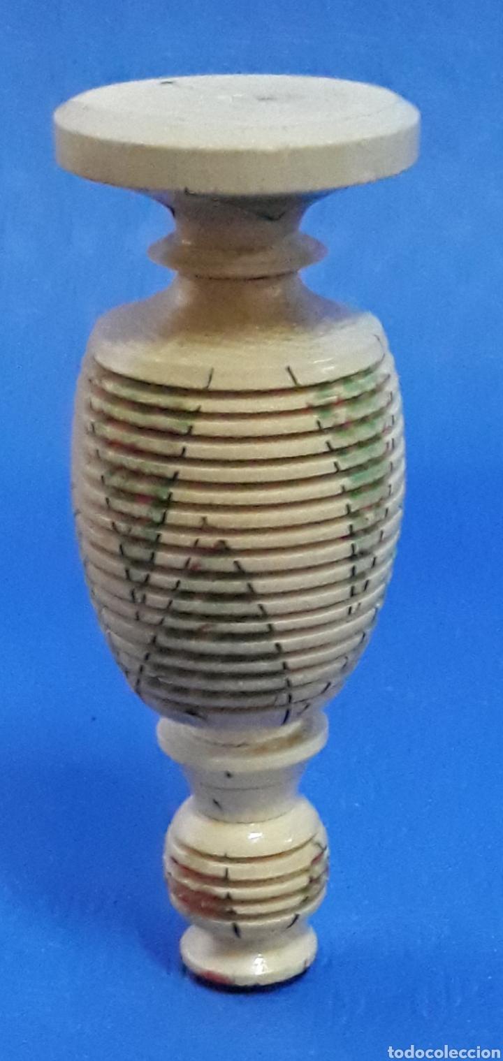 Antigüedades: Tarro de madera torneada muy raro - Foto 3 - 169584118