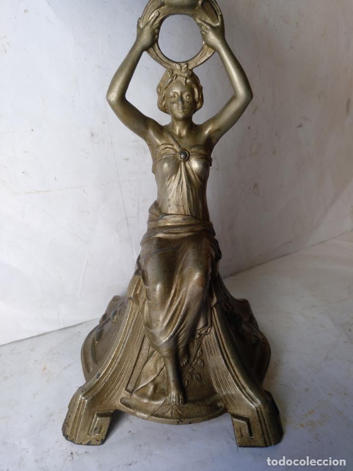 Antigüedades: GRANDE Y ANTIGUO CENTRO ESCULTURA MODERNISTA , ORIGINAL FINAL SIGLO XIX - Foto 2 - 169599704