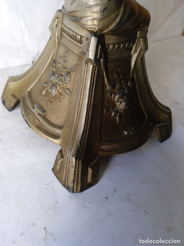 Antigüedades: GRANDE Y ANTIGUO CENTRO ESCULTURA MODERNISTA , ORIGINAL FINAL SIGLO XIX - Foto 7 - 169599704