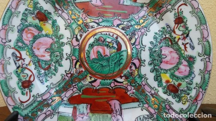 Antigüedades: PRECIOSO Y ANTIGUO PLATO DE PORCELANA CHINA DE MACAO. MIDE 20 CM - Foto 2 - 159130342