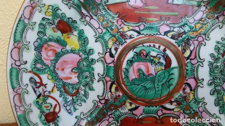 Antigüedades: PRECIOSO Y ANTIGUO PLATO DE PORCELANA CHINA DE MACAO. MIDE 20 CM - Foto 4 - 159130342