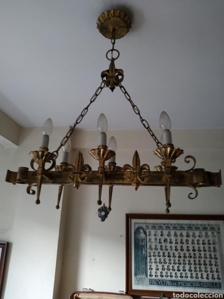 Antigüedades: Lampara de forja .Años 70. - Foto 4 - 169608437