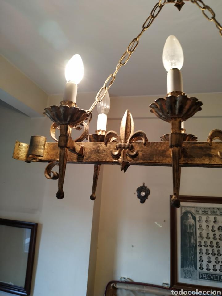 Antigüedades: Lampara de forja .Años 70. - Foto 8 - 169608437