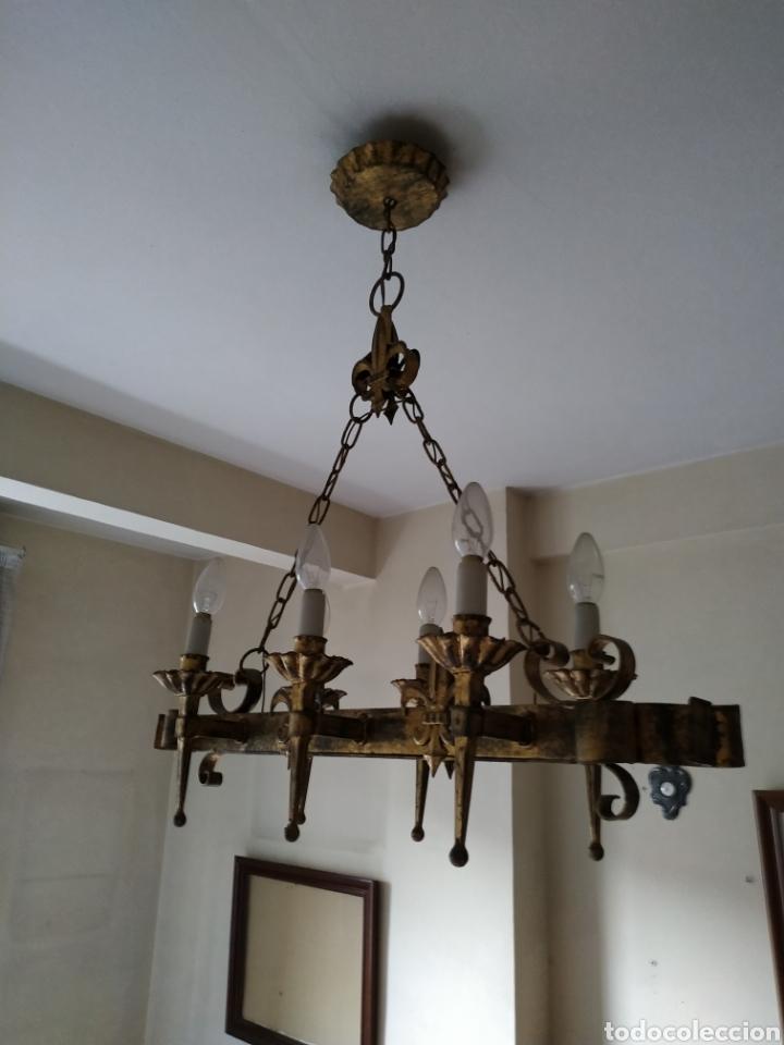 Antigüedades: Lampara de forja .Años 70. - Foto 9 - 169608437