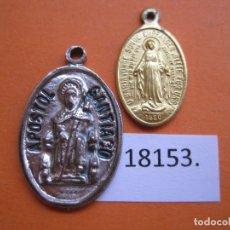 Antigüedades: MEDALLAS RELIGIOSAS LOTE 2. Lote 169615024
