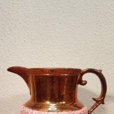 Antigüedades: JARRA EN CERÁMICA ESMALTADA CON REFLEJOS METÁLICOS - BRISTOL, INGLATERRA. SIGLO - XIX. Lote 169615333