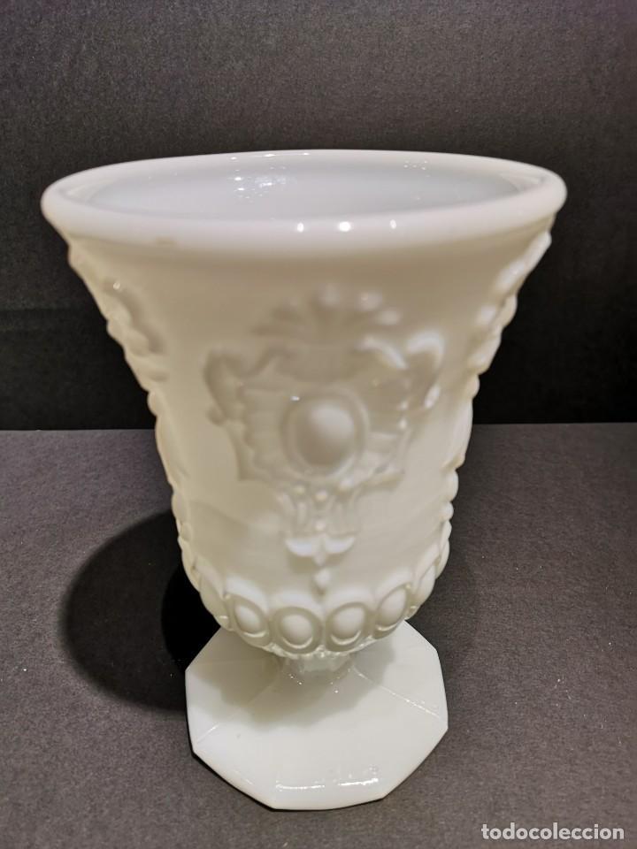 Antigüedades: COPA JARRÓN OPALINA BLANCO - Foto 2 - 169654680