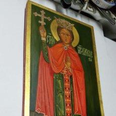 Antigüedades: ICONO RUSO PINTADO AL OLEO MAGISTRALMENTE. Lote 169658656