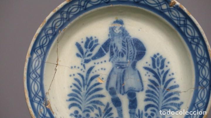 Antigüedades: RARO PLATO DE CERAMICA. TRIANA. SIGLO XIX - Foto 3 - 169681184