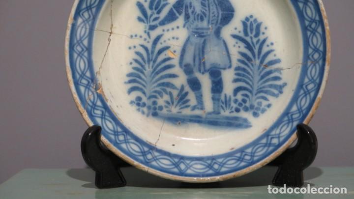 Antigüedades: RARO PLATO DE CERAMICA. TRIANA. SIGLO XIX - Foto 4 - 169681184