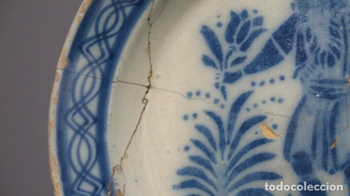 Antigüedades: RARO PLATO DE CERAMICA. TRIANA. SIGLO XIX - Foto 5 - 169681184