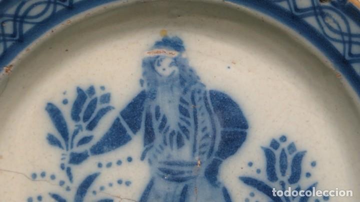 Antigüedades: RARO PLATO DE CERAMICA. TRIANA. SIGLO XIX - Foto 6 - 169681184