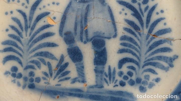 Antigüedades: RARO PLATO DE CERAMICA. TRIANA. SIGLO XIX - Foto 7 - 169681184