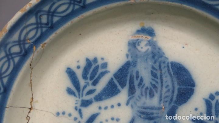 Antigüedades: RARO PLATO DE CERAMICA. TRIANA. SIGLO XIX - Foto 8 - 169681184